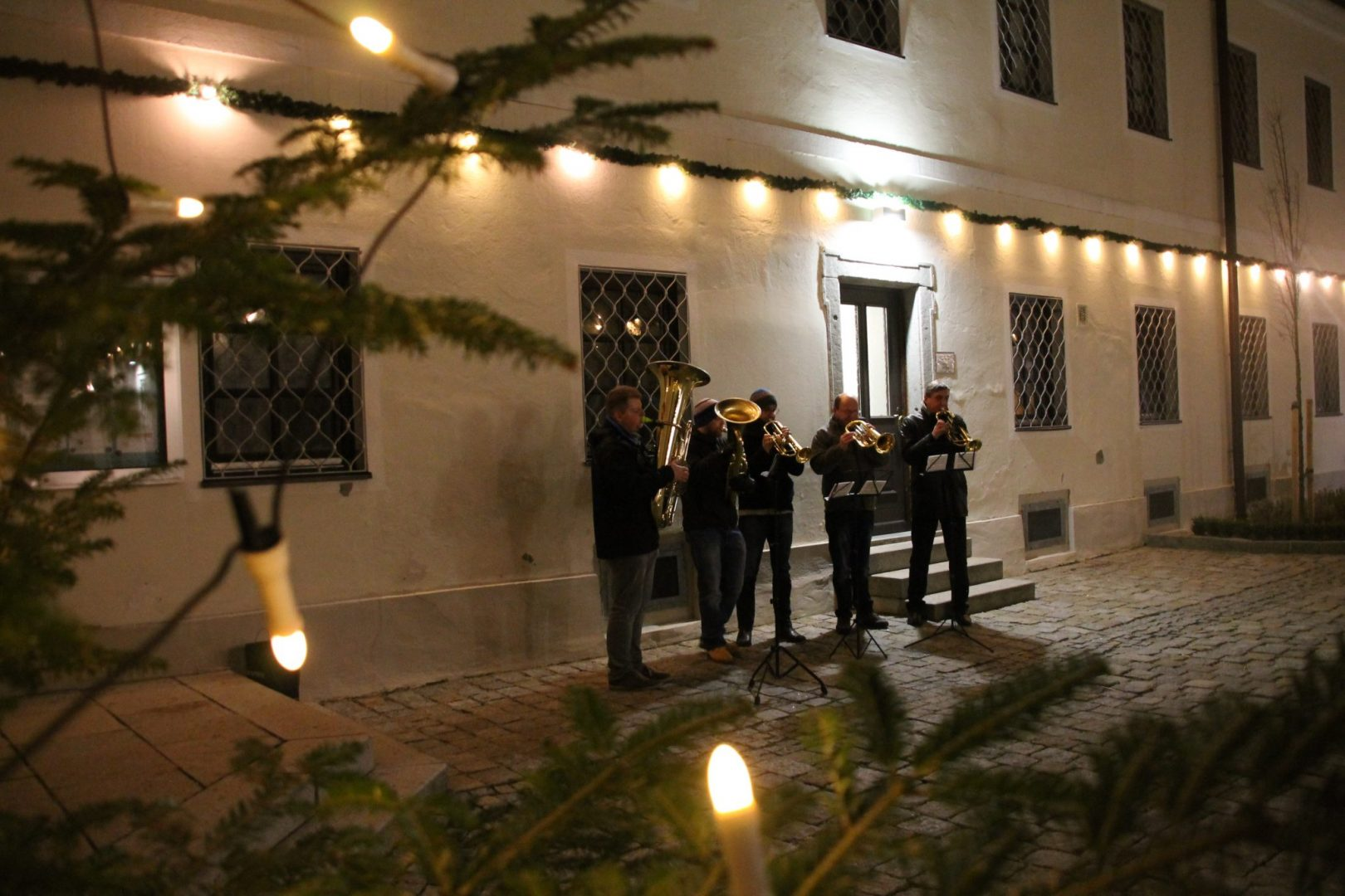 Weihnachten 2017 - Mettenbläser Stiftskirche Suben (c) Margareta Hofinger