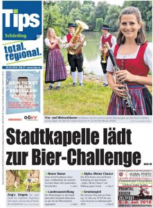 Presse Tips KW 27 Titelblatt Bericht Weisenblasen 2018