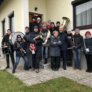 Neujahranblasen 2018-19 Schustereder Gruppenfoto
