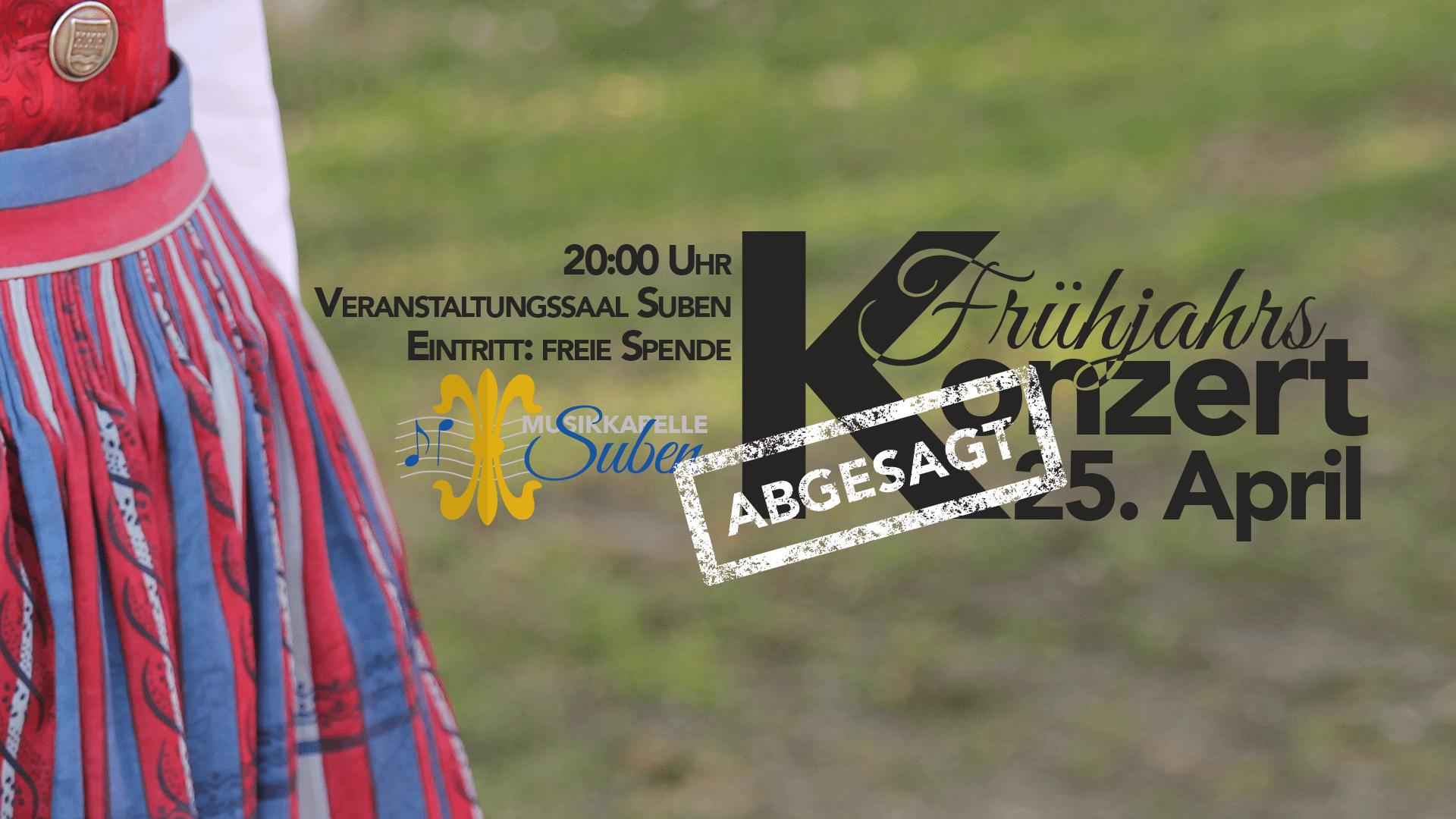 ABGESAGT – Frühjahrskonzert 2020